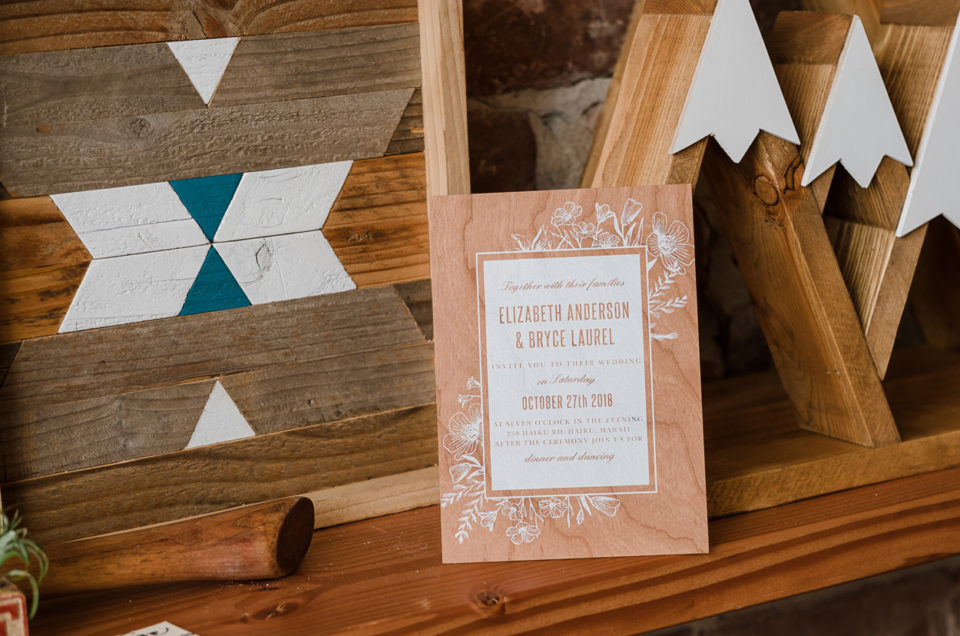 Basic Invite Wood Invitation Suite | Discount Code